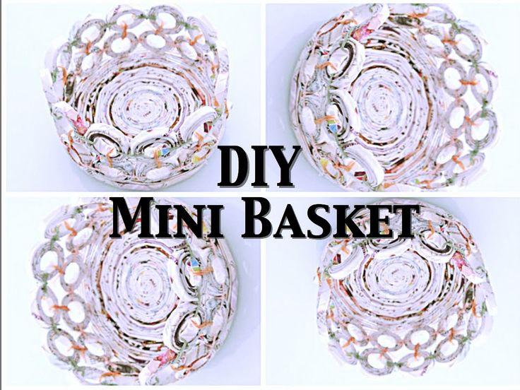 DIY: Mini Basket (Recycle Magazine)