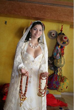 Un envidiable traje de novia, digno de una princesa Wayuu #indigenous #colombia