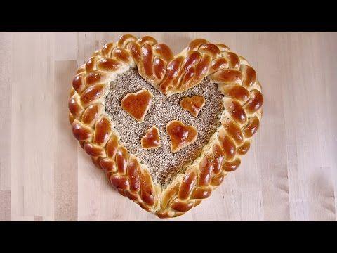 Herz aus Hefeteig flechten für Valentinstag / Muttertag   Zeitlos-Brot