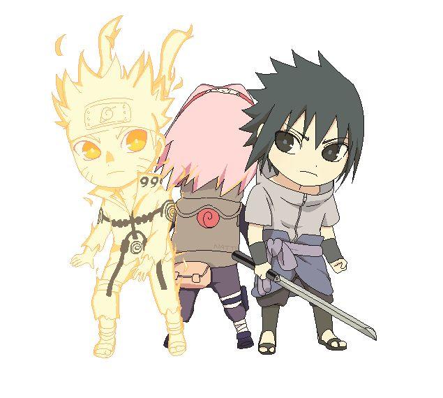 Team 7 Naruto Sasuke Sakura #chibi