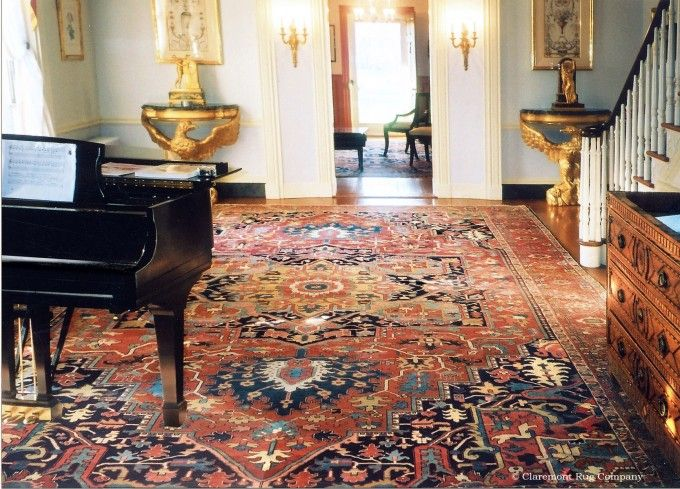 Antique Oversize Serapi Carpet Is Stunning In Colonial Home