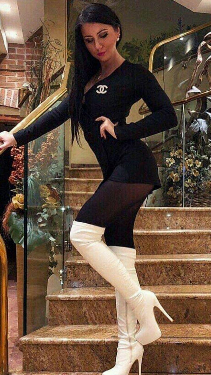 Pin on Ladies In Stockings & Thigh Highs, Heels