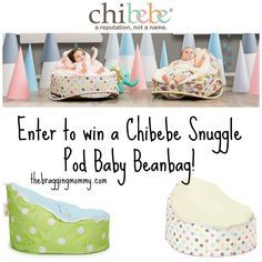 Chibebe Snuggle Pod Baby Beanbag Review and Giveaway