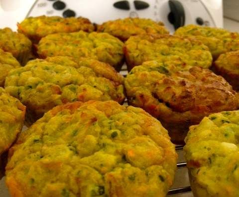 Recipe Zucchini Muffins with Hidden Veg for the Kids by KrissyB - Recipe of category Baking - savoury