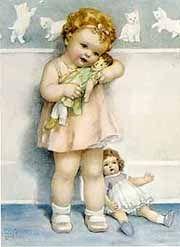 """""""Love is Blind""""Favorite Artists, Illustrationsvintagebessi Peas, Gutmann Art, Dolls, Bessie Pease Gutmann, Bessie Peas Gutmann, Peas Guttman, Children Illustration, Children Art"""