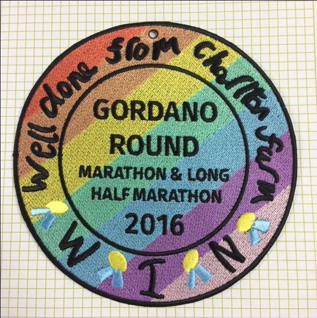 Marathon and half-marathon Badges