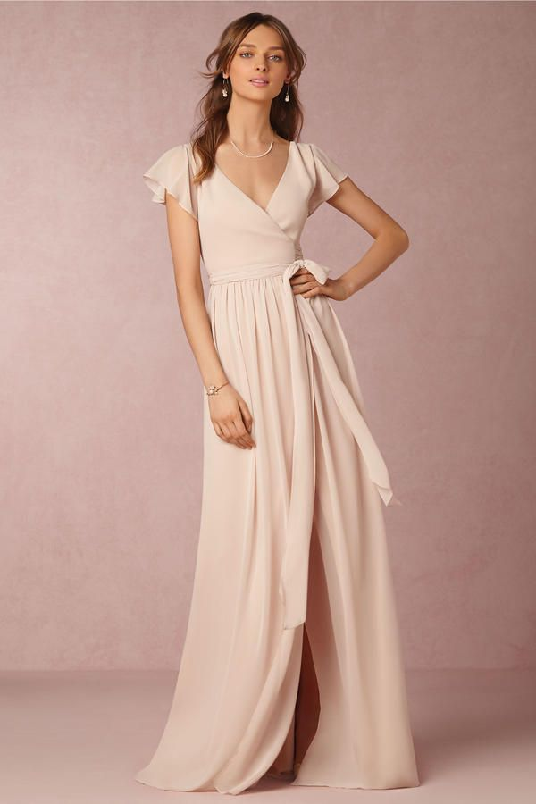 Flutter Sleeves - 7 Bridesmaid Dress Trends for 2017 - Southernliving. Universally flattering and ultra-feminine, flutter sleeved gowns are popping up all over Pinterest for a reason.  bhldn.com