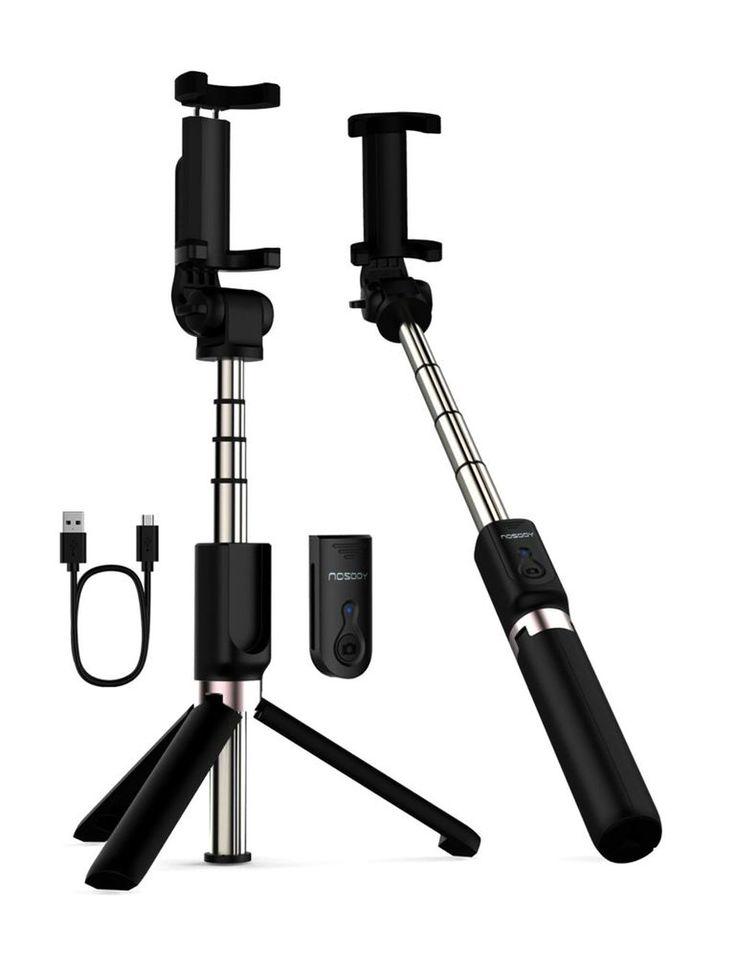 Iphone x magic tripod bluetooth extendable selfie stick