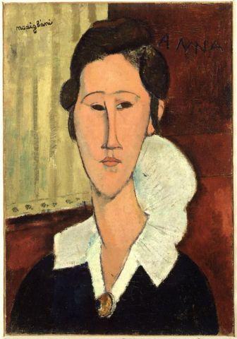 Amedeo Modigliani - Signora dal Collaretto