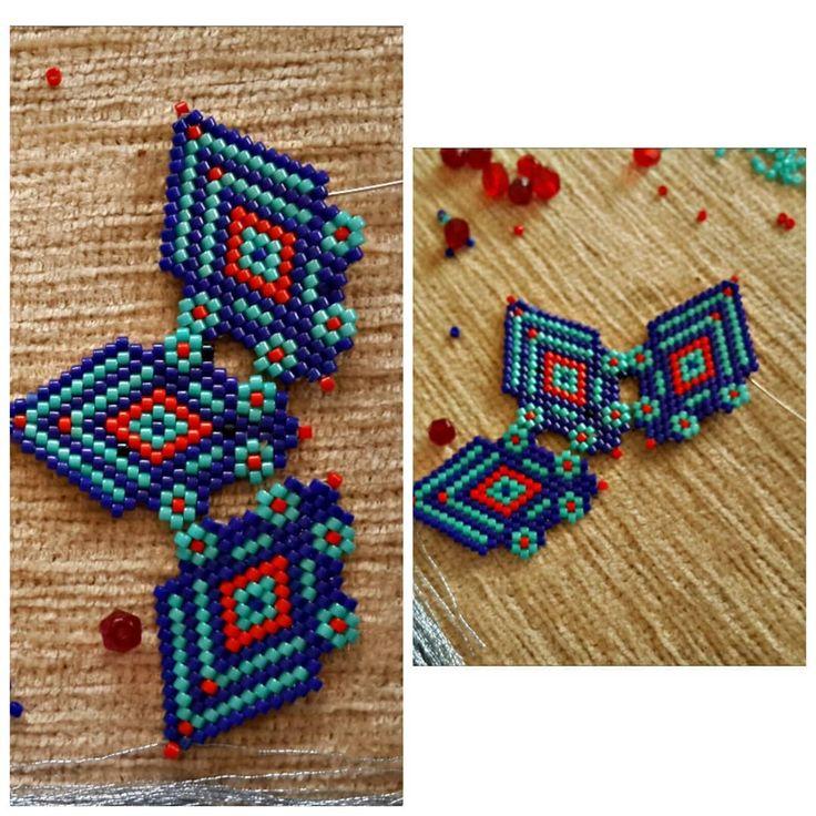 Uzunnn zaman sonra Yapmayi istediğim bir model becerebilirsem ☺ #kolye #jewelry #handmade #taki #kadın #aksesuar #necklace #miyuki #brickstitch #peyote #miyukidelica #elişi #elemeği #like4like #instalike #likeforlike #likeforlikes