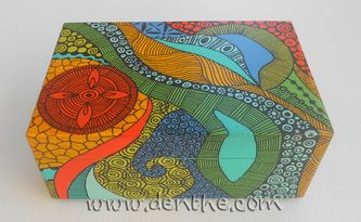 #zentangle box - denthe art