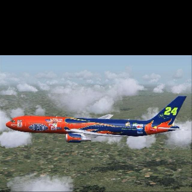 Jeff Gordon Plane!! Too cool!