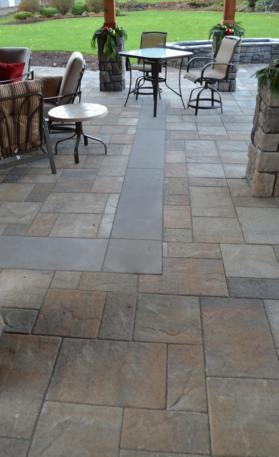 Concrete Overlay Random: Patio, Love This