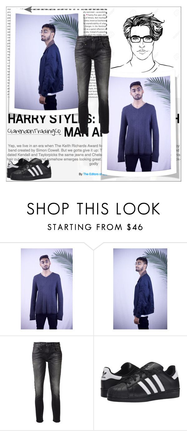 """ClarendonTradingCo 1/10"" by emina-095 ❤ liked on Polyvore featuring Oris, Calvin Klein, R13 and adidas Originals"