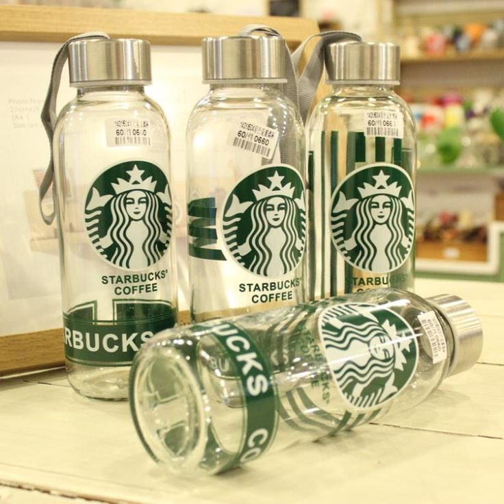 Free shipping 430ml starbucks Drinkware drinking bottle and cup 4pcs/1lot wholesale watter cup outdoor glass cup portability-in Water Bottles from Home & Garden on Aliexpress.com | Alibaba Group