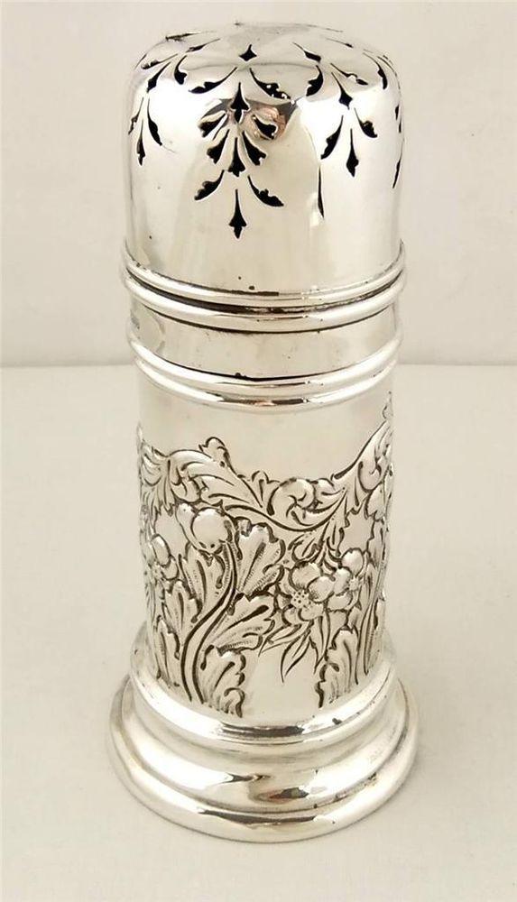 Antique Hallmarked Sterling Silver Sugar Shaker - Chester 1903