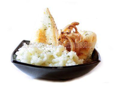 Receta de chipirones con arroz glutinoso