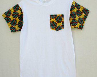 Cera impresión y Kente África mapa T Shirt Africa mapa por Shipella