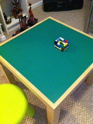 Easy Ikea Lego Table @Jeff Slager: Ikea Lego, Ikea Table, Side Tables, Diy Lego, Boards Tables, Ikea Diy, Pools Table, Lego Tables, Ikea Hacks