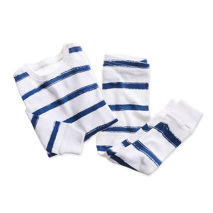cotton-baby-toddler-sleepwear-pajamas-stripe-navy-blue