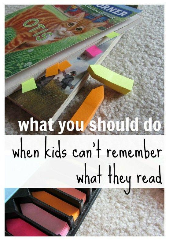 Hulp voor kinderen die wel vlot lezen, maar niet onthouden waar het over gaat.