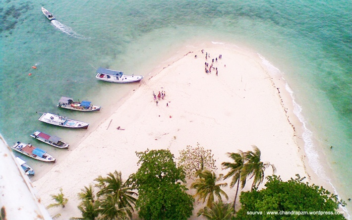 View from Pulau Lengkuas, Belitung Island. Only in Indonesia :) Checkout here http://www.flamingo.co.id/trip/wisata-belitung