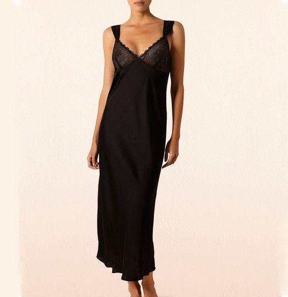 Satynowa suknia - Anemone | Satin Dress - Anemone | 199,90PLN#sukienka #bielizna#czarna#seksowna #lingerie#dress#anemone #black#sexy#intimate #britney_spears
