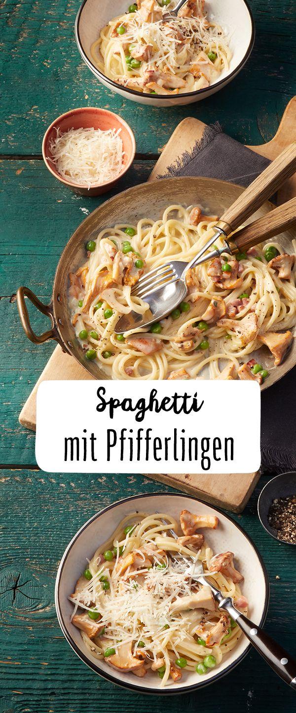 Spaghetti mit Pfifferlingen & Speck