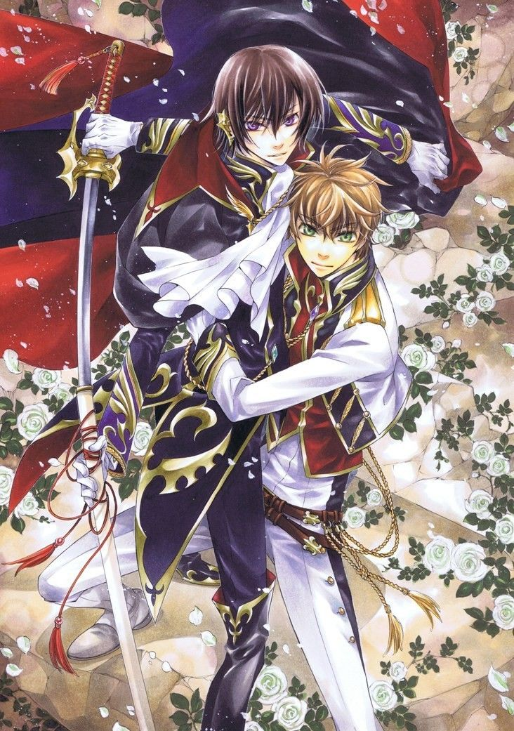 Prince and Knight Fighting together Code geass, Anime