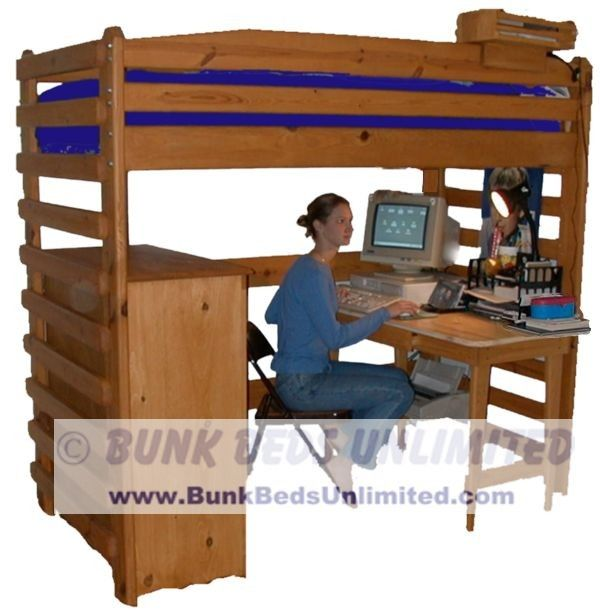 loft bed plan or bunk bed plan tall twin - Free Loft Bed With Desk Plans