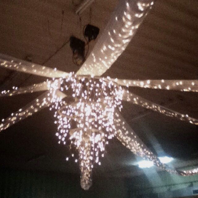 hula hoop chandelier with icicle lights | Canopy made from hula hoop ...