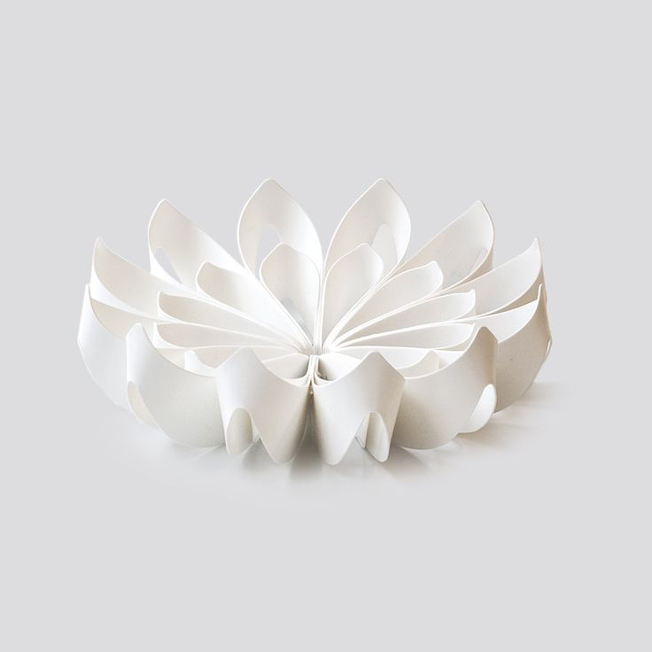Petals decorative fruit bowl - Small white from be