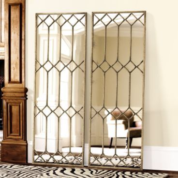 Mirror Mirror on the Floor… | coco+kelley  Giant Window Pane Mirror...could I make this?