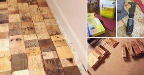Aprende cómo hacer tú mismo un piso estilo parquet económico, rústico y original, reutilizando maderas.