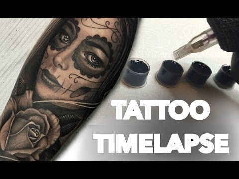 3242c6bb4d123 Silence times - Tattoo (time lapse and real time) - YouTube | Sleeve | Tattoo  time lapse, Tattoos, Skull rose tattoos