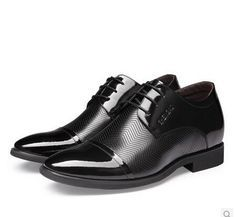 Online Shopping Male elevator shoes men's 6cm increased stealth leather business formal shoes men's Dress Shoes Genuine leather shoes Size:37-42 C02145 89.01 | m.dhgate.com