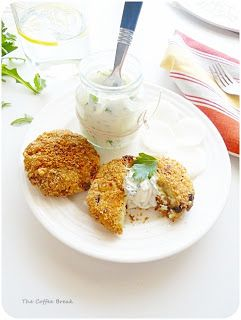 The Coffee Break: Oven-baked Leftover Rice and Mushroom Cakes and Herb Yogurt