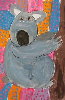koalas with aboriginal inspired backgrounds