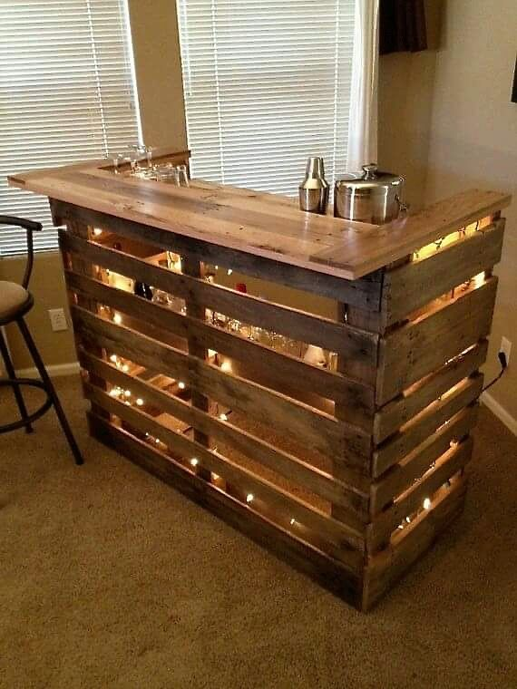 bar hecho con pallets