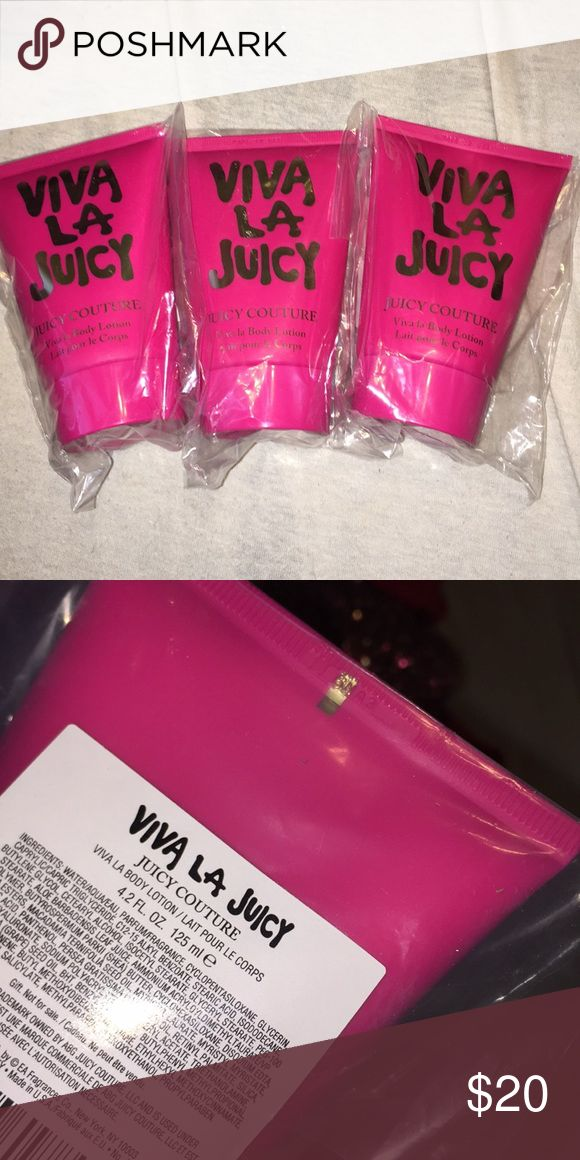 Juicy Couture (Authentic) Viva La Juicy lotion Brand new in the package + frangrance sample with each purchase!! Juicy Couture Other