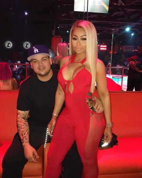 Rob Kardashian & Blac Chyna Have a Date at the Strip Club!