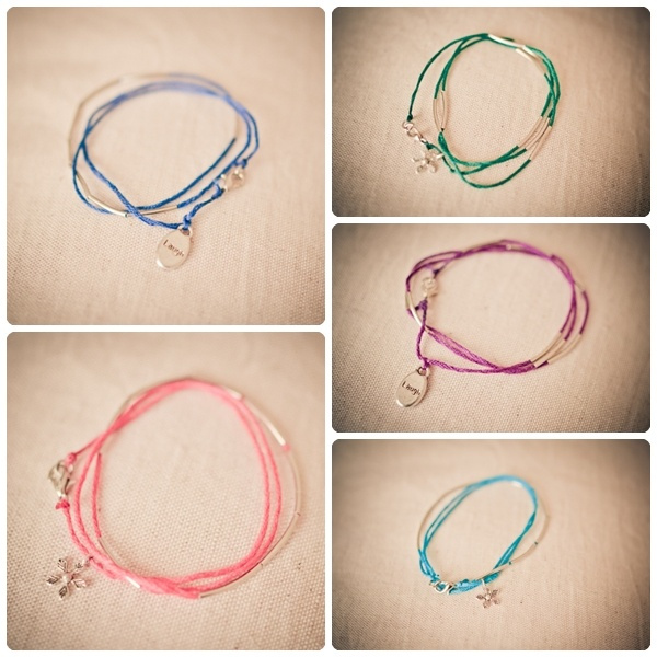 thread bracelets - could put shrinky dink charms on