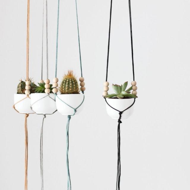 Die 25+ Besten Ideen Zu Makramee Blumenampel Auf Pinterest ... Blumenampel Selber Machen Hangekorb