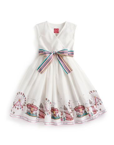 Joules JNR CROQUET Girls Dress, Pier. Put your little one in print this season. A lightweight summer dress that will become her favourite from the moment she sees it.