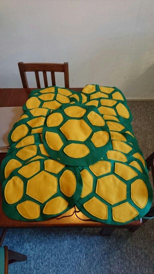 Teenage mutant ninja turtle shells!  Handmade out of felt