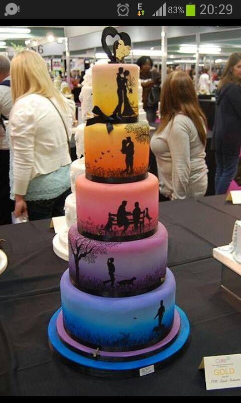 farbige Torte