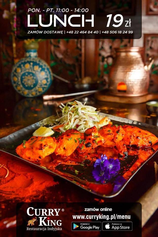 Chicken Curry Lub Palak Paneer Wraz Z Indyjskim Chlebem Naan Lub Ryzem Basmati Cena To Tylko 19 Zl W Godzinach 11 00 14 00 Serdecznie Zapr Food Curry Beef