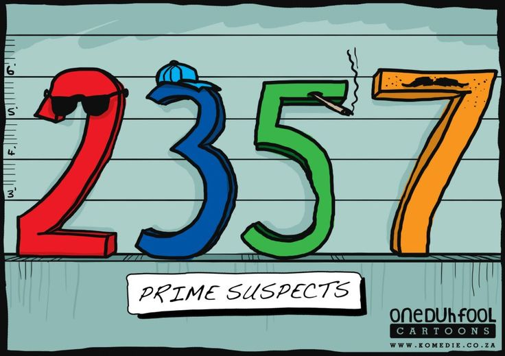 This prime suspect poster is pretty clear. It takes low cognitive effort to see that all the numbers are prime.
