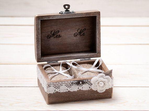 Ehering Box Ehering Inhaber Ring Kissen von InesesWeddingGallery