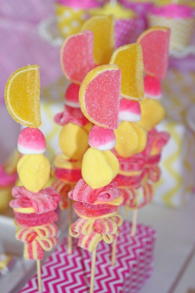 Pink Lemonade Candy Kabobs